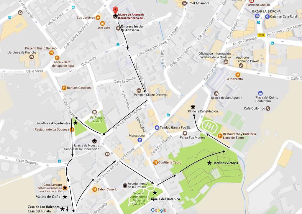 Mapa La Orotava