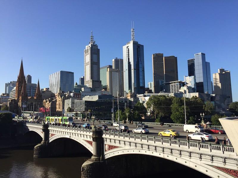 Blick auf Melbourne City