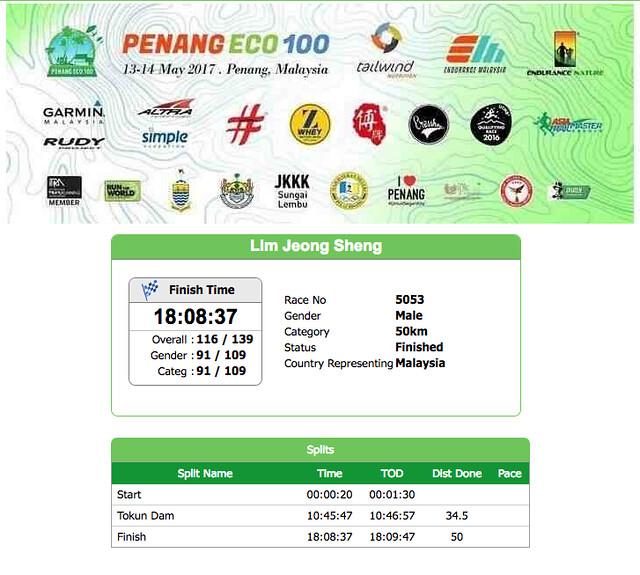Penang ECO 100 result