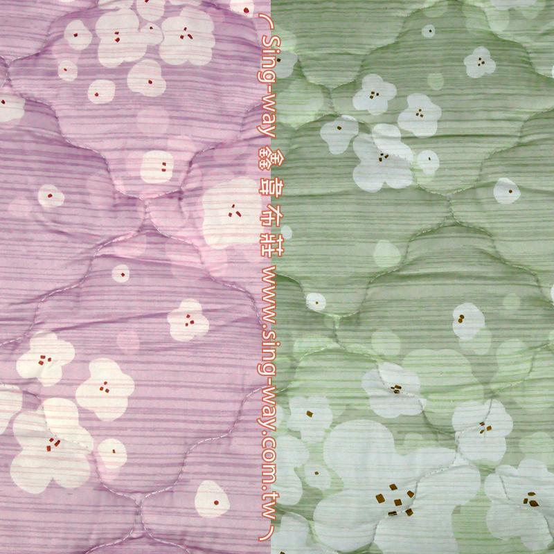 【限宅配】 白木棉花 柔美花卉 精梳棉鋪棉床品床單布料 B990087