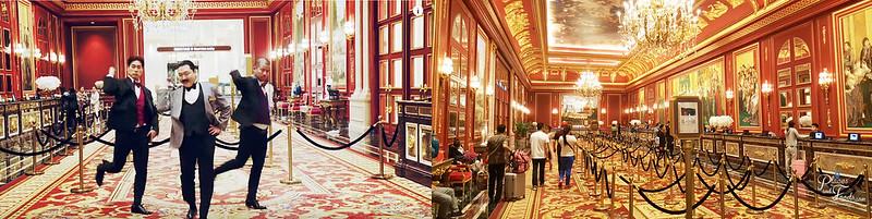 psy parisian lobby scene