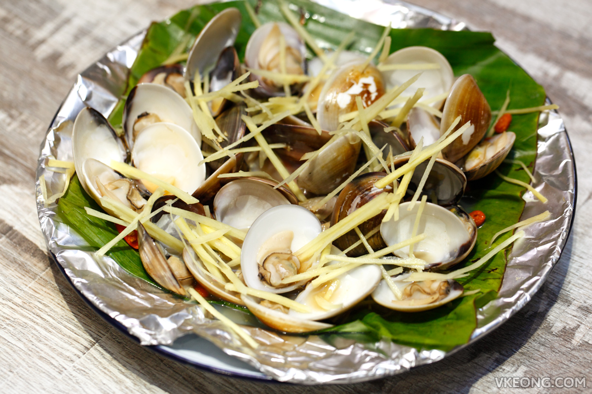 Bubu Grill Seafood Steamed Clams in Ginger Wine