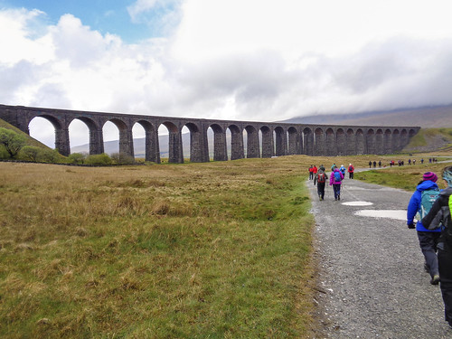Passing the Ribblehead Viaduct