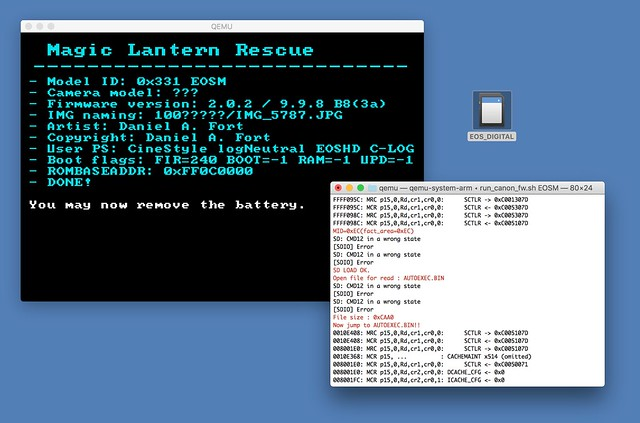 How to run Magic Lantern into QEMU?!