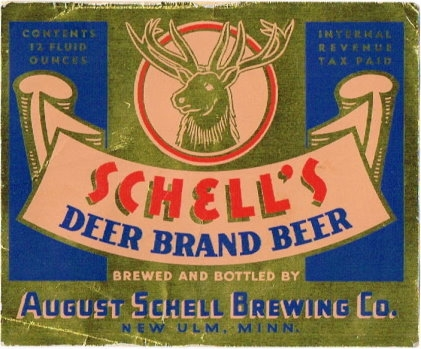 Schells-Deer-Brand-Beer--Labels-August-Schell-Brewing-Company