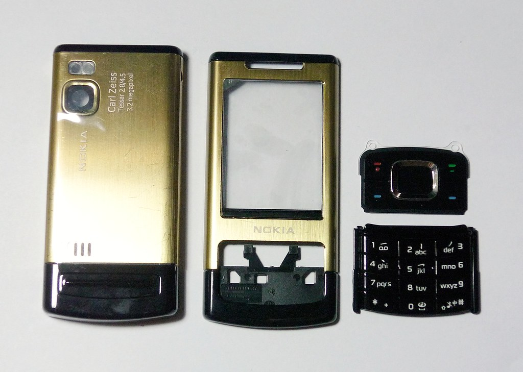 6500 Faceplate Gold Fascia Case Housing Slide For 6500s -00143 Cover About Facia Details Nokia