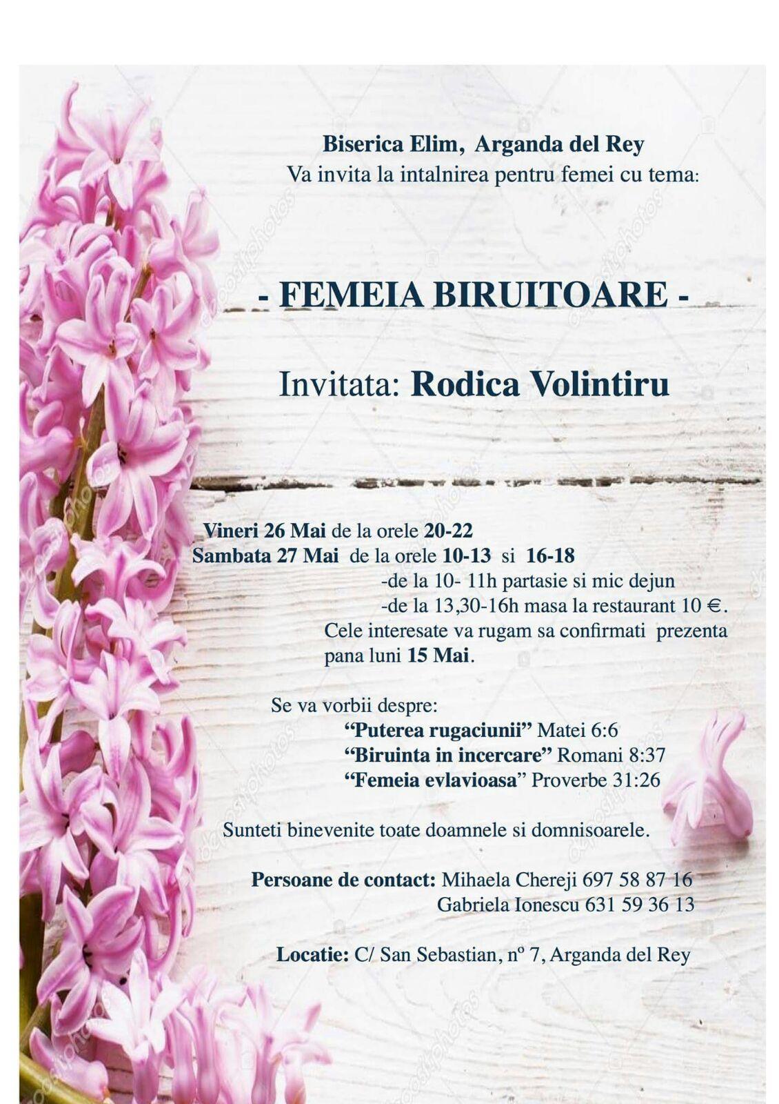 Conferinta femei (Rodica Volintiru 26-27 Mai 2017)