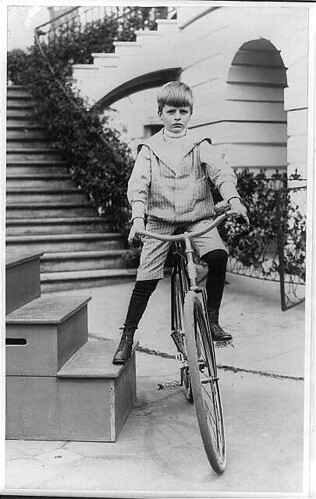 Archie Roosevelt on Bicycle at White House