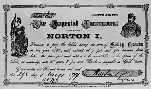 Cuddy & Hughes Emperor Norton scrip note