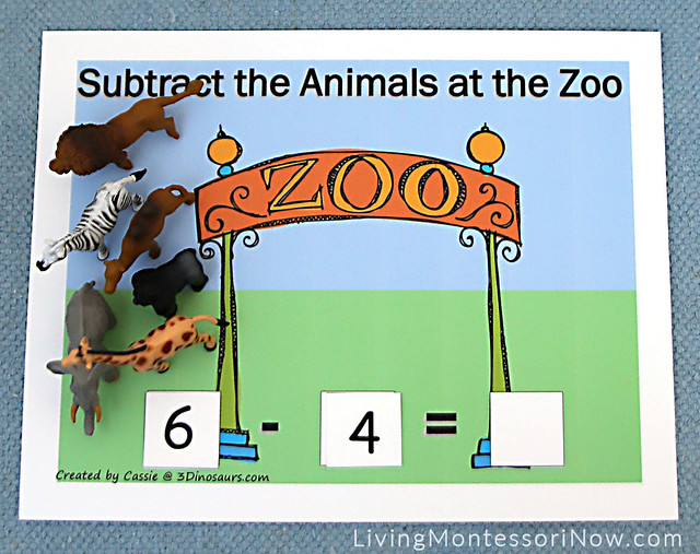 Subtract the Animals at the Zoo Activity