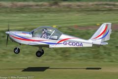 G-CDOA - 2005 build Aerotechnik EV-97 Eurostar, new Barton resident