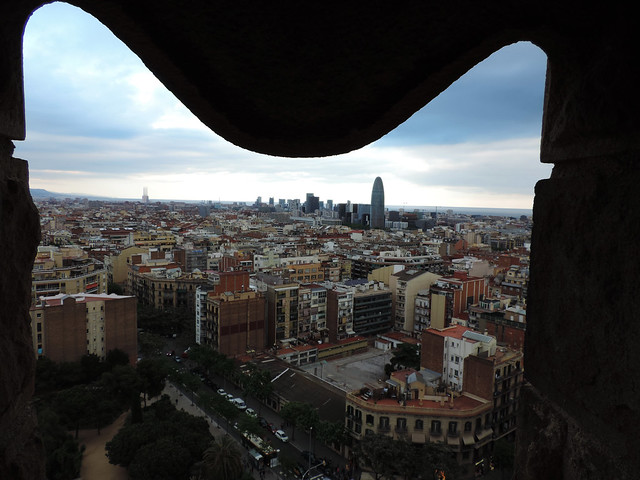 Barcelona views: Nativity Tower of Sagrada Familia, Barcelona, Spain