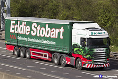 Scania R450 - PO66 UBP - H2542 - Gloria Anna - Eddie Stobart - M1 J10 Luton, Bedfordshire - Steven Gray - IMG_8189