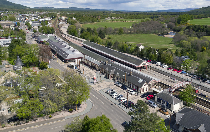 Aviemore railway Station aerial image