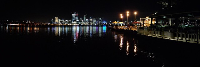 Perth across the swan at night