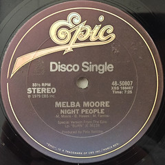 MELBA MOORE:NIGHT PEOPLE(LABEL SIDE-A)
