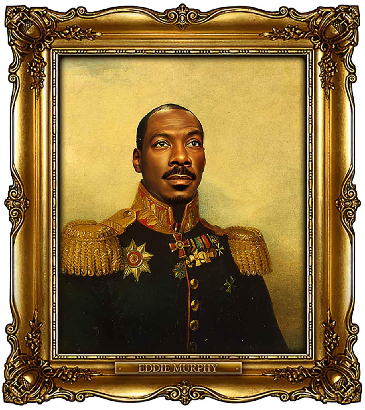 Artist Turns Famous Actors Into Russian Generals - Eddie Murphy