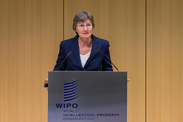 Kathryn Graddy Presenting at WIPO Conference, April 2017