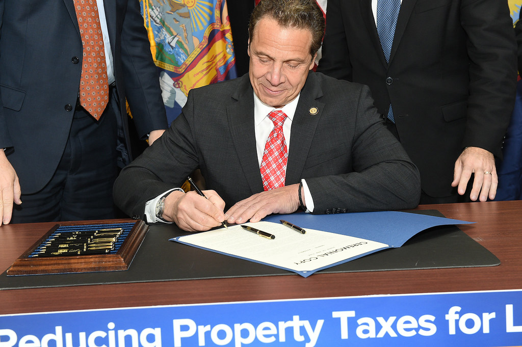 Governor Cuomo Signs Legislation to Cut Property Taxes and Cost of Local Government
