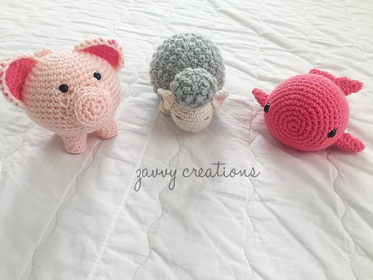 Babies: Pig, Lamb, Whale