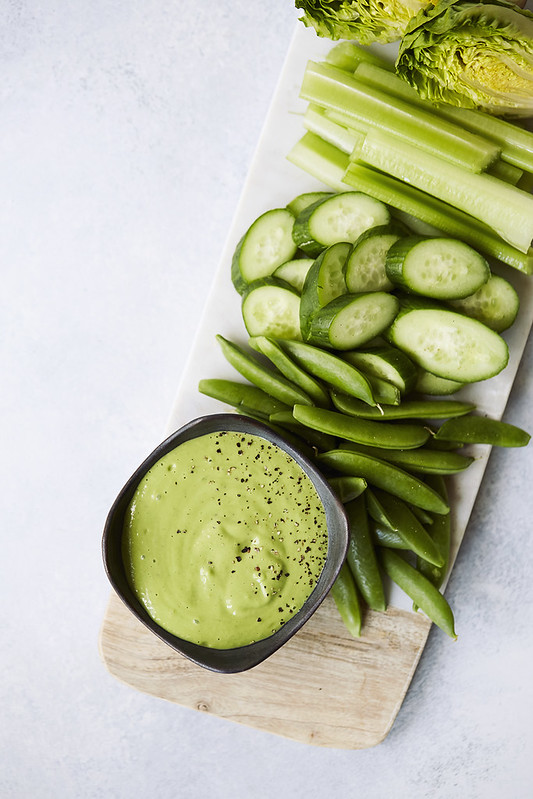 5 Minute Green Goddess Dressing / Dip {Dairy-free}