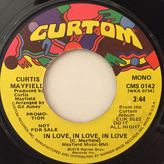 CURTIS MAYFIELD:IN LOVE, IN LOVE, IN LOVE(LABEL SIDE-B)