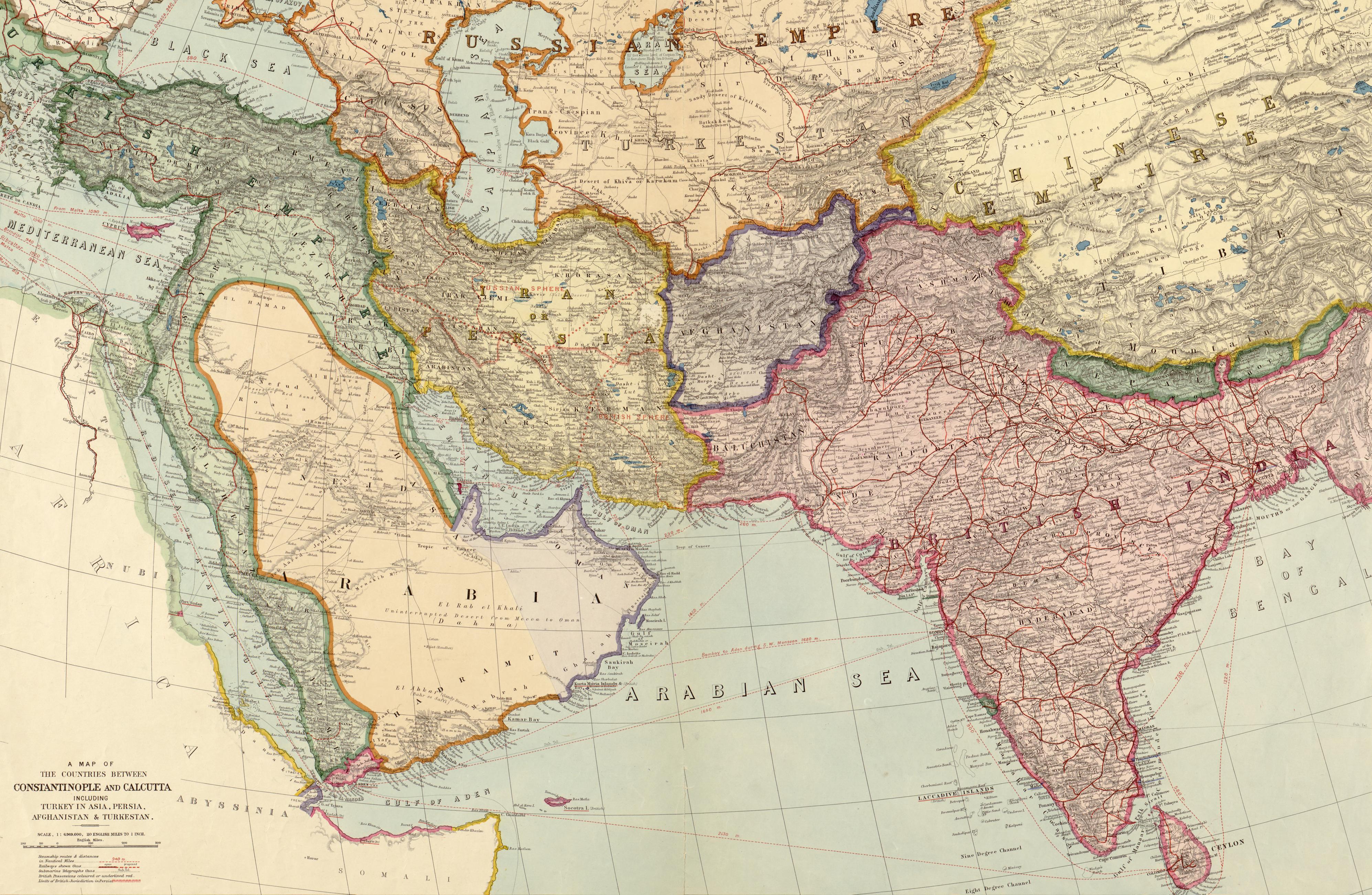 Southwest Asia (1912) - Vivid Maps