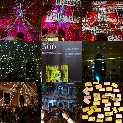 Happy in Venice! Tonight again outdoor video mapping installation 500 starting 21h-0h and open indoor installation 16-23h !! Please join us! #campoapostoli #venezia #venice #philippgeist #videomapping #lightart #videogeist #campoapostoli