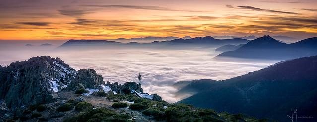 Mar de Nubes en la Sierra de Guadarrama