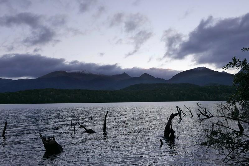 Blick auf den See Monowai.