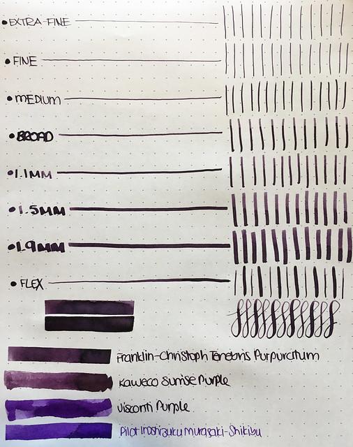 Ink Shot Review Franklin-Christoph Tenebris Purpuratum @1901FC 5