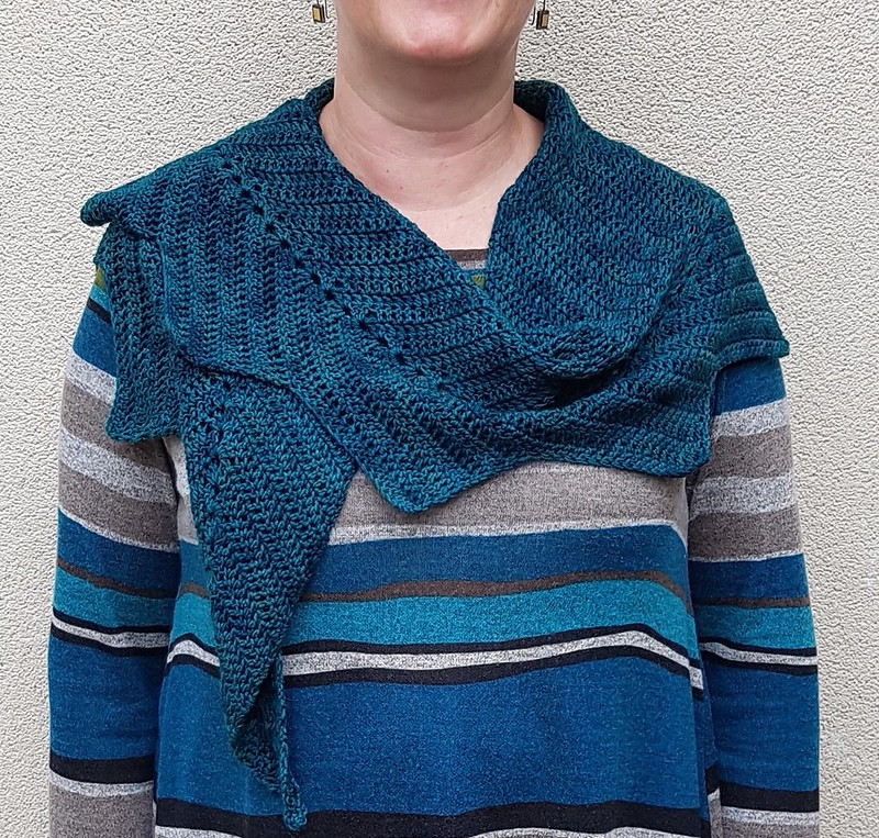 Maleny shawl in Wollmeise