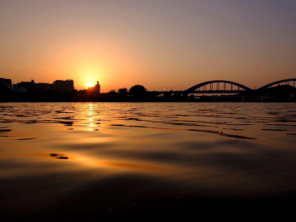 多摩川の夕暮れ_その1