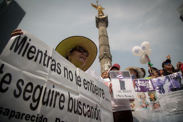 VI Marcha de la Dignidad Nacional. Madres buscando a sus hijas e hijos