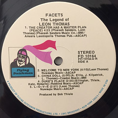 LEON THOMAS:FACETS THE LEGEND OF LEON THOMAS(LABEL SIDE-A)