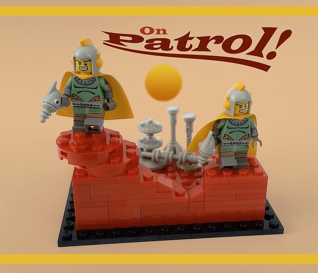 Retro spaceman series 17 vignette