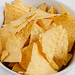 The tortilla chips in bowl