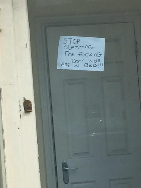 Stop slamming the door