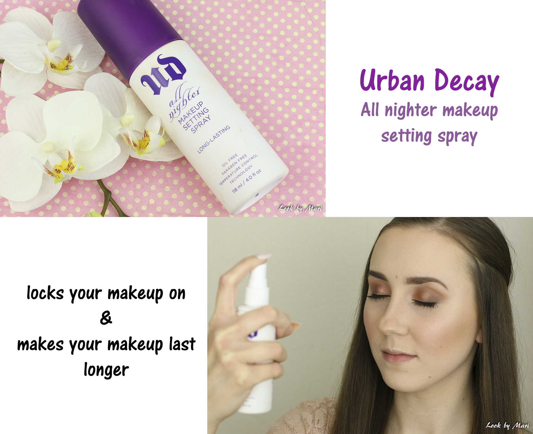 20 urban decay all nighter makeup setting spray review kokemuksia sekaiholla sekaiho