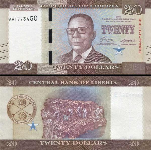20 Dolárov Libéria 2016, P33