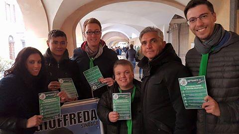volantinaggio a Savigliano per Gioffreda Sindaco (01/05/17)