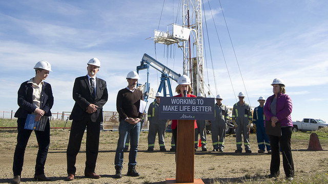 Premier Notley announced funding boost to clean up old oil and gas sites