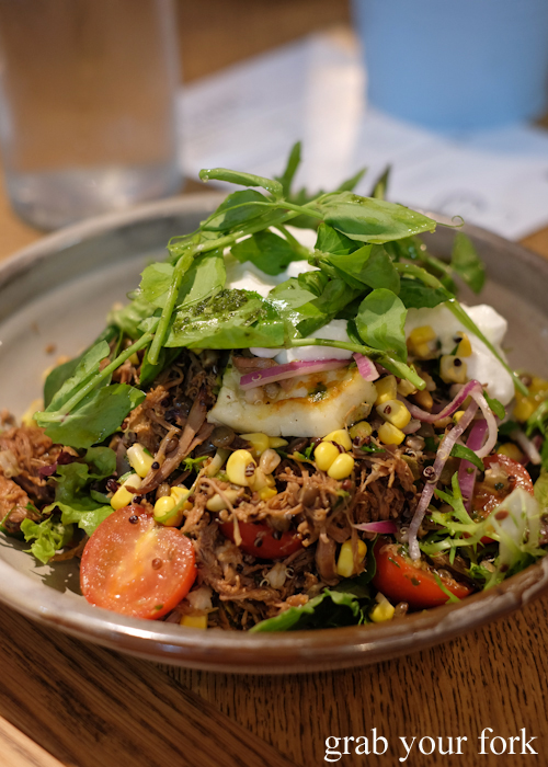 Rotisserie lamb salad at the Merchants of Ultimo at Broadway Shopping Centre