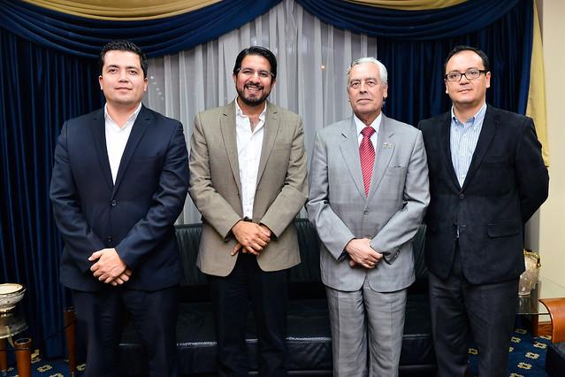 Visita del Ec. Santiago León Ministro de Industrias y Productividad