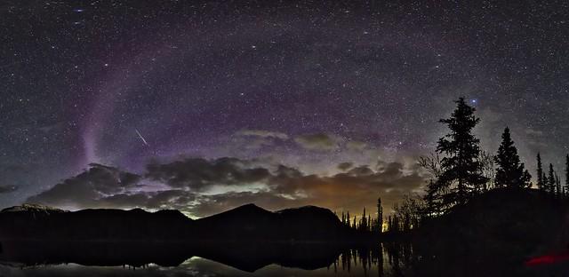 Giant #Steve aurora Panorama