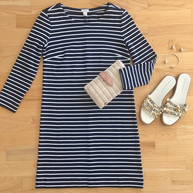 J.Crew Factory Striped Maritime Dress, size XXS regular