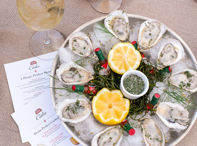 nantucket food wine festival oysters stella artois cidre