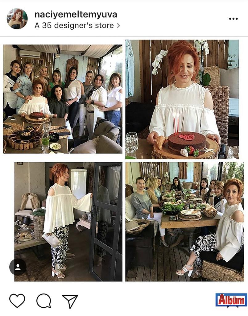 Özel Melten Kreş ve Gündüz Bakım Evi'nin kurucusu Naciye Alagöz, dostları ile kutladığı doğum günü partisinden bu fotoğrafı paylaştı.