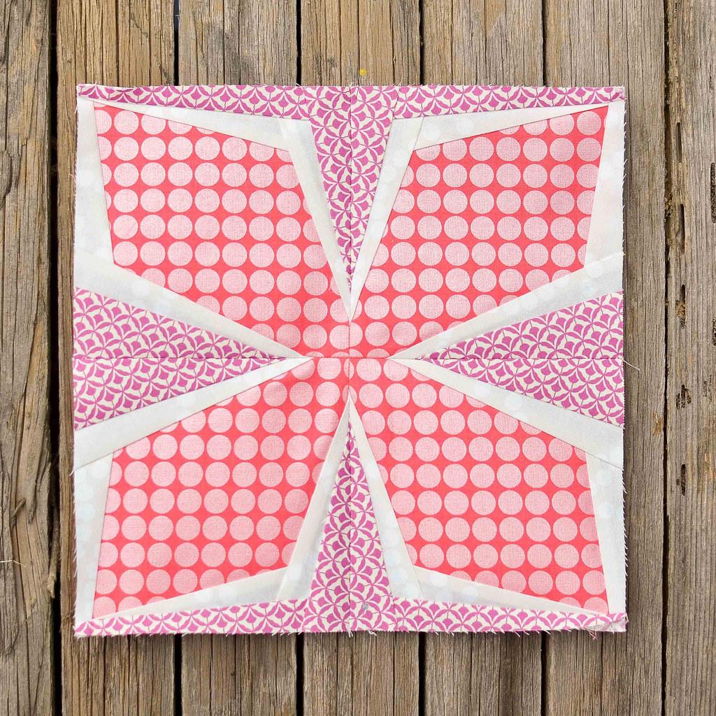 Diamond Flower Quilt Block Tutorial