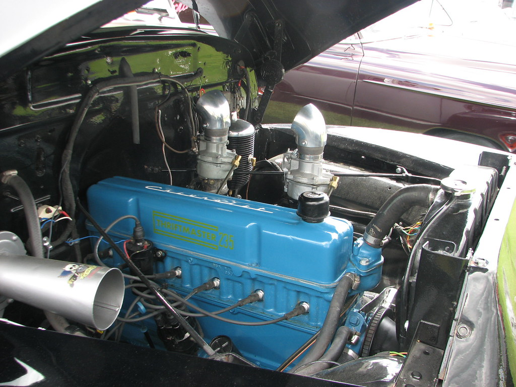 a thriftmaster 235 six in may 2017 | seen in a 1954 chevy ... wiring a 58 chevy 235